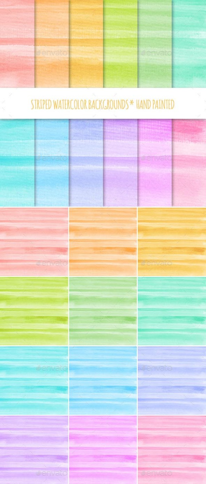 12 Watercolor Texture Backgrounds