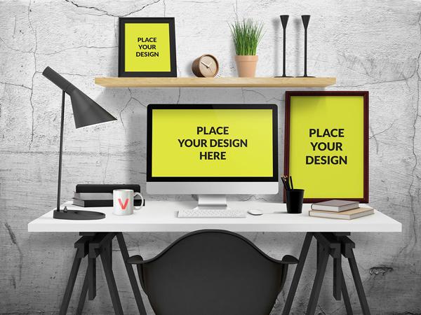 31_PSD Desk Mockup