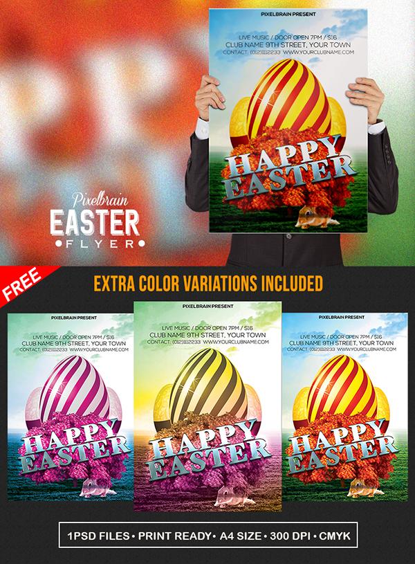 02 Free Easter Festival Flyer