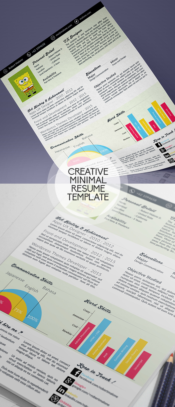 22 Free Professional CV/Resume and Cover Letter PSD Templates ...