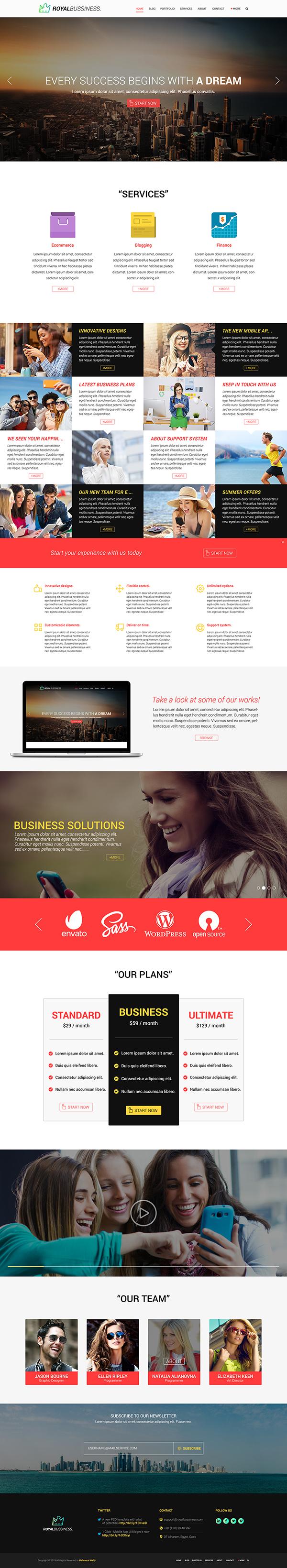 07 Royal Business - FREE Multipurpose PSD Template