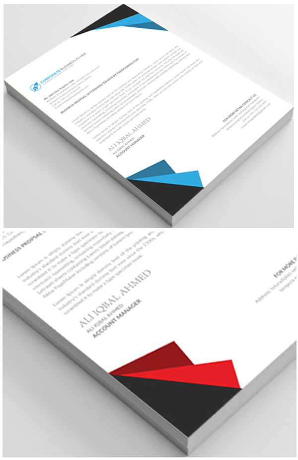 08 Free Business Letterhead Psd Template