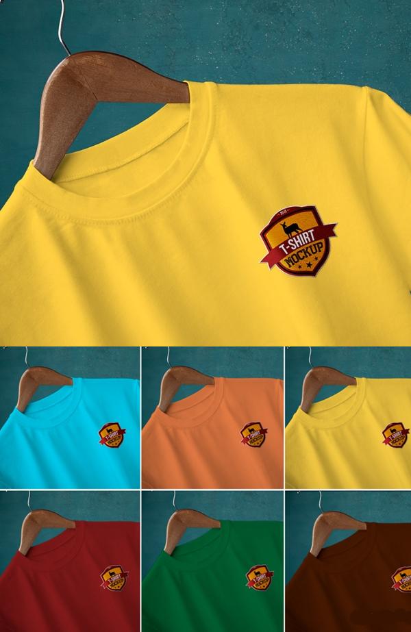 10 Free Round Neck T-Shirt Mockups