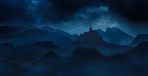 12  Create a Dark Landscape Matte Painting