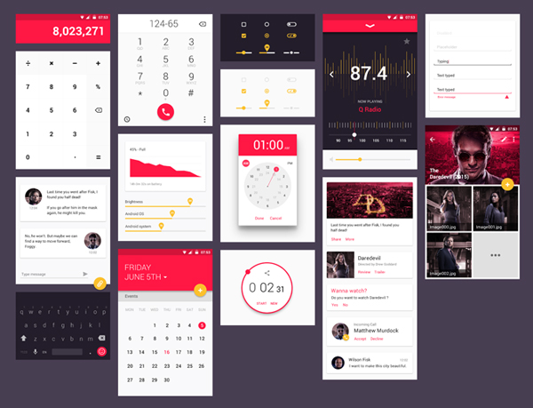13 Free Material Design UI Kit