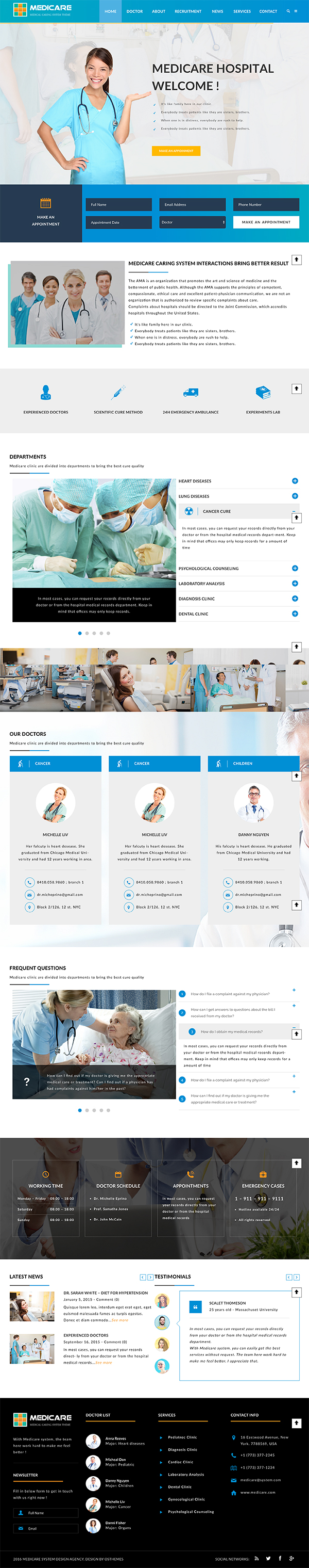14 Medicare - Medical and Health Responsive WordPress Theme