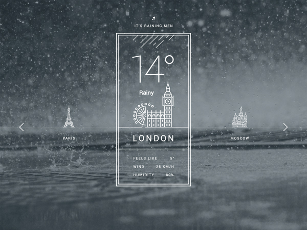 15 Free Weather UI PSD Design