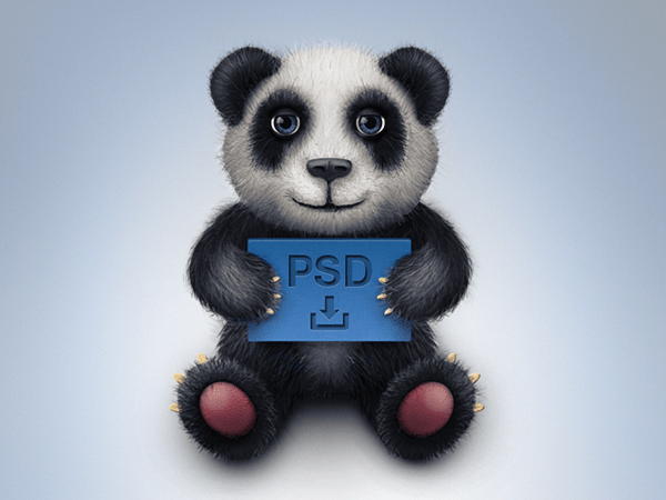 22 Free Toy Panda Icon Freebie PSD