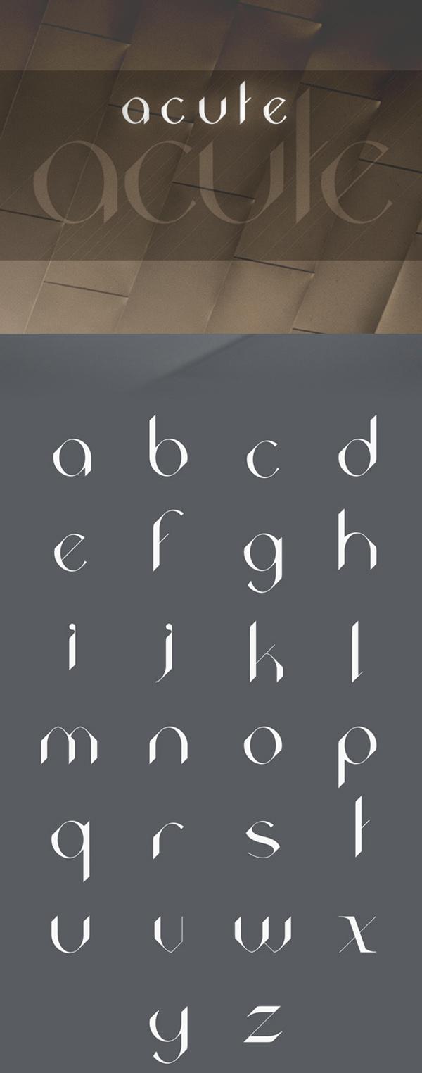 23 Acute Free Font