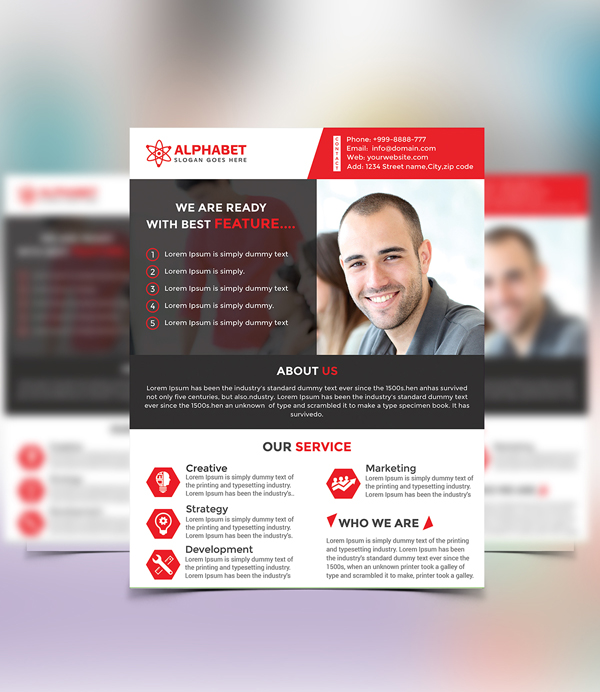 26 Free Corporate Business Flyer PSD Template
