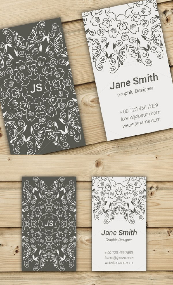 38 Two-sided business card template