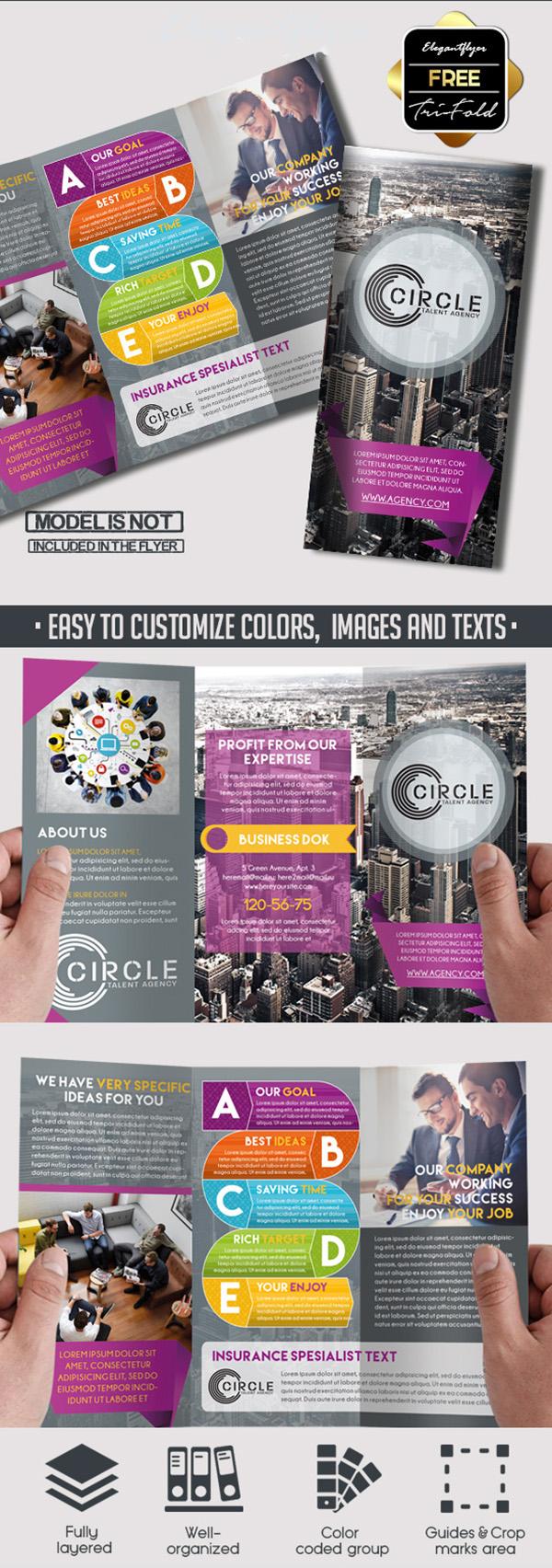 01 Agency – Free PSD Tri-Fold PSD Brochure Template