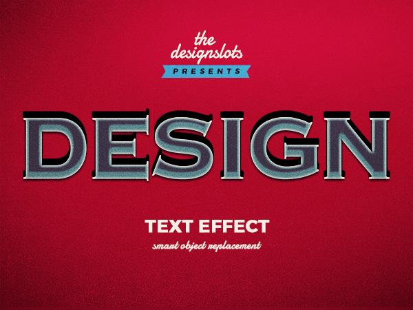 01 Design Vintage Text Effect