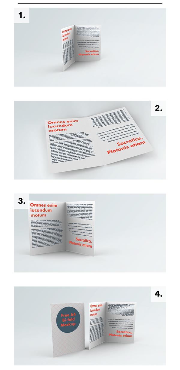 02 Free A4 Bi-Fold Brochure Mockup