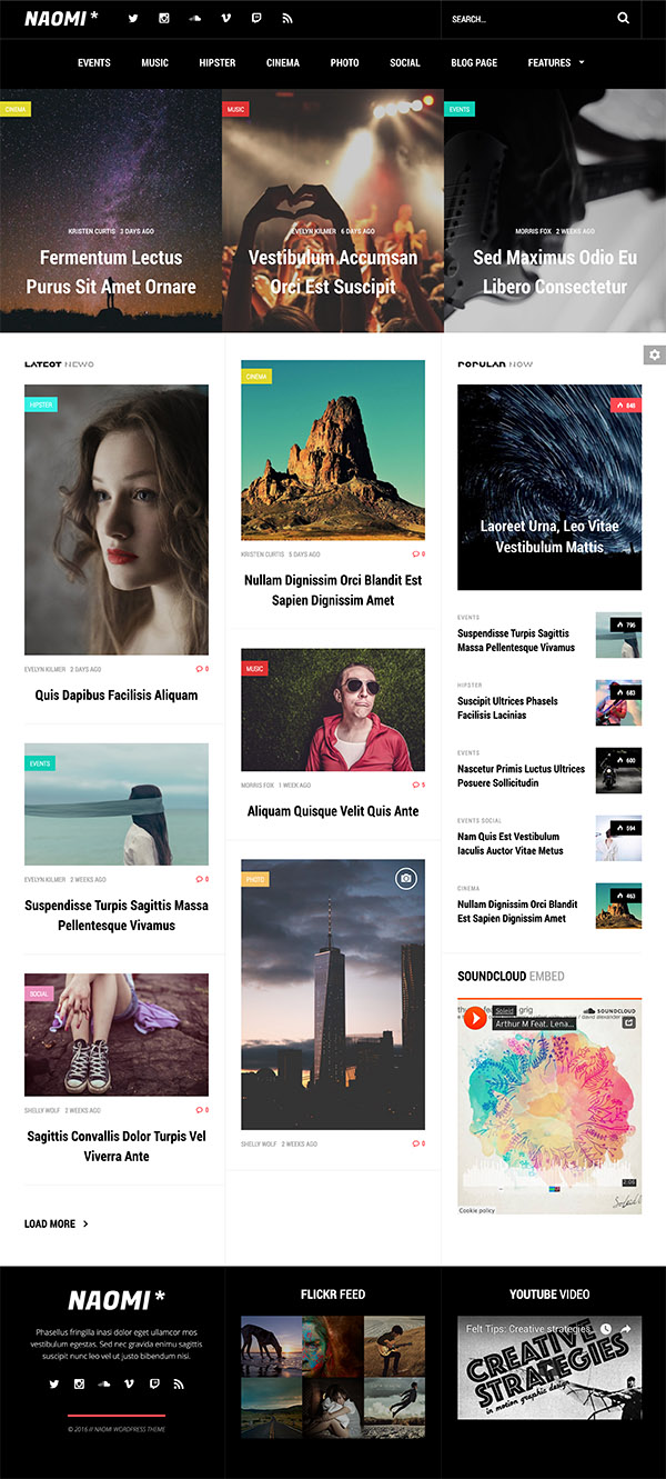 02 Naomi - Responsive WordPress News Theme
