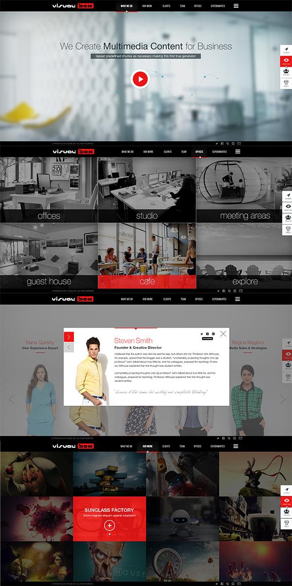02 Visual Box website Design PSD Download