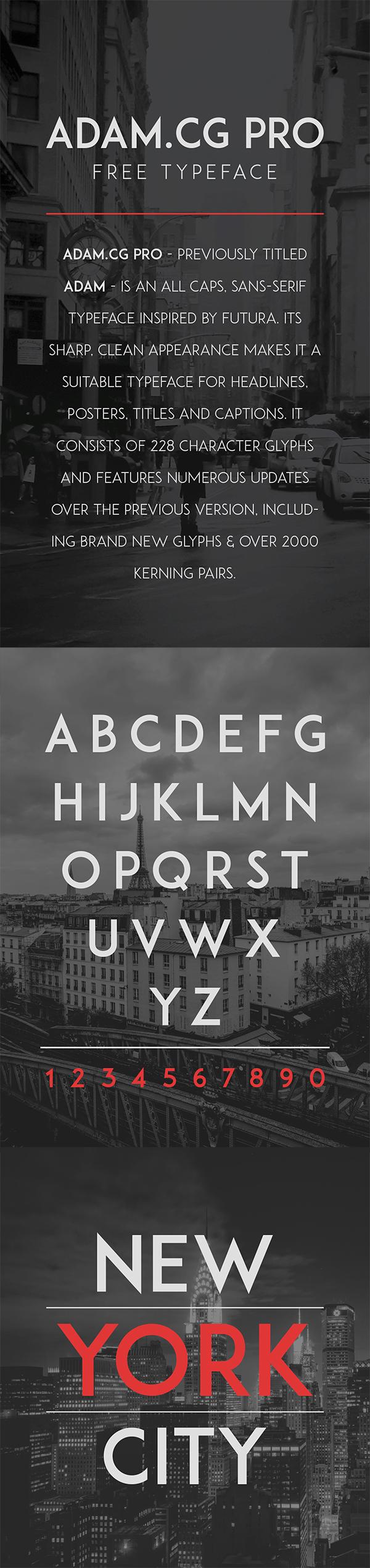 07 Adam.cg Pro Free Typeface