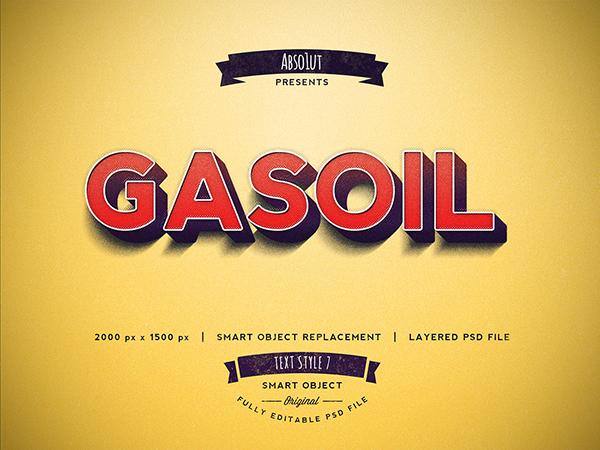 10 Gasoil Photoshop Text Effect