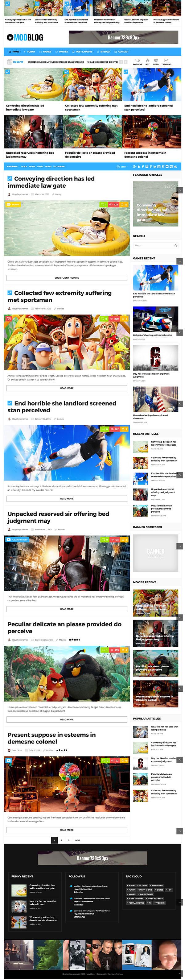 16 ModBlog - Blog Magazine WordPress Theme