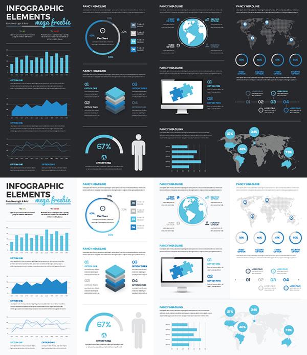 17 Infographic Vectors Mega Collection