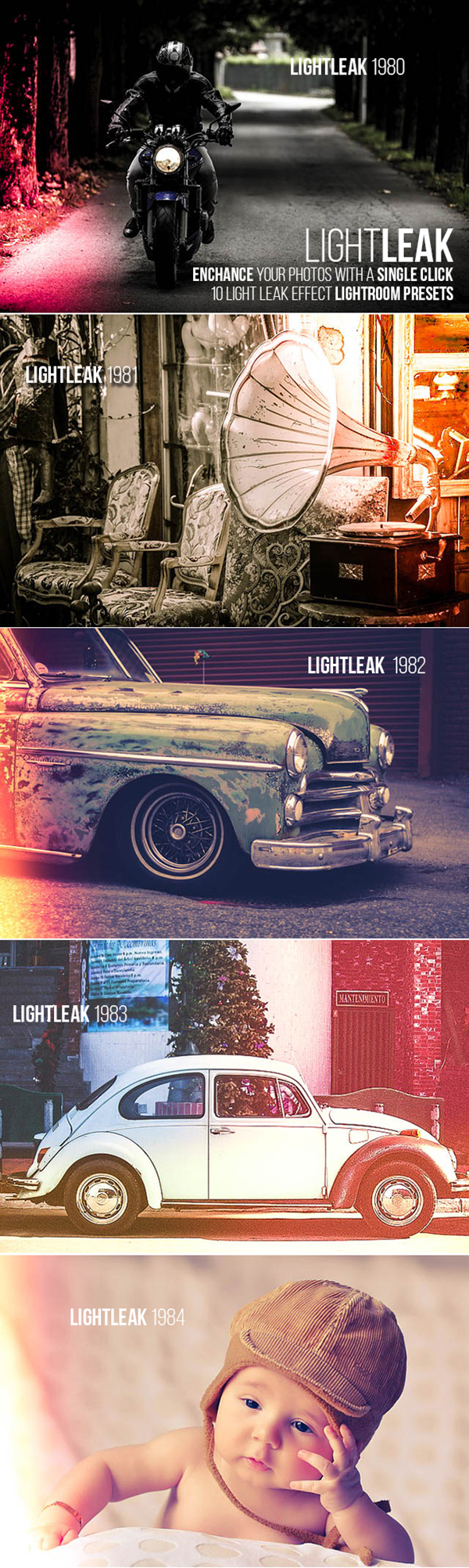 18 10 PRO Light Leak Lightroom Presets