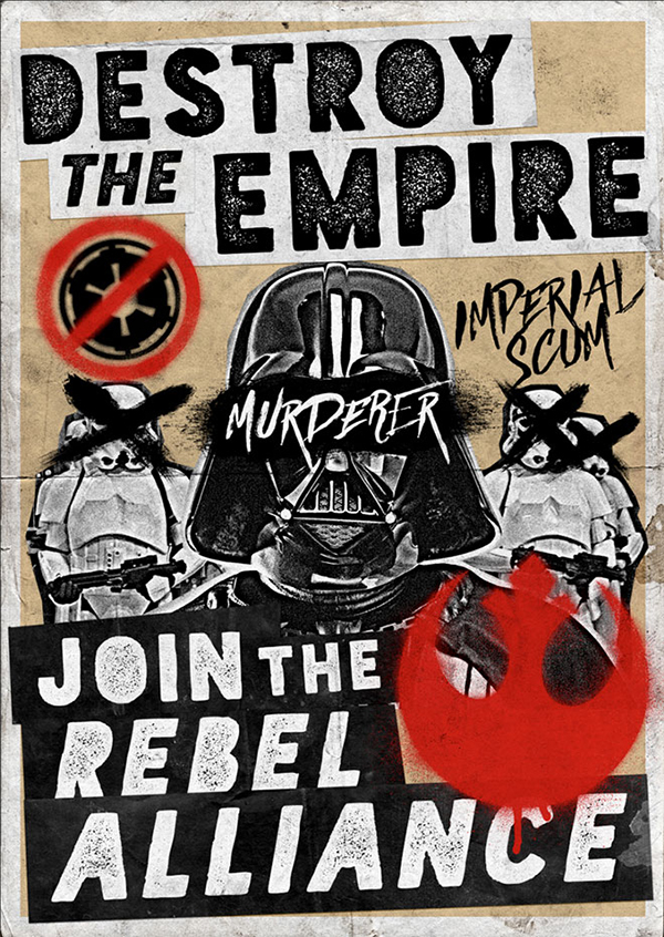 19 Grungy Star Wars Propaganda Poster