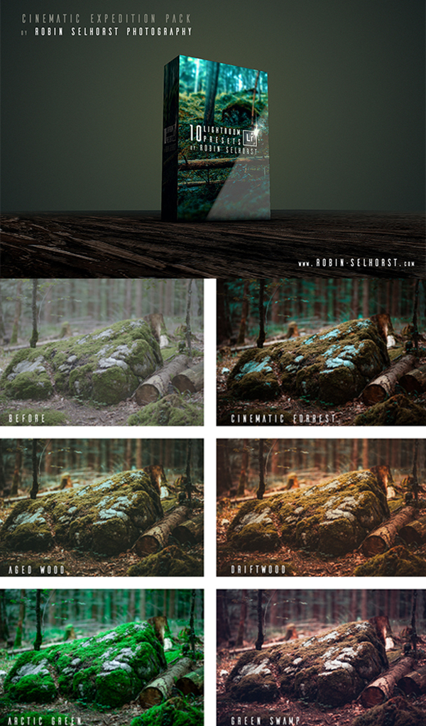 20 Cinematic Expedition Pack - Lightroom Presets