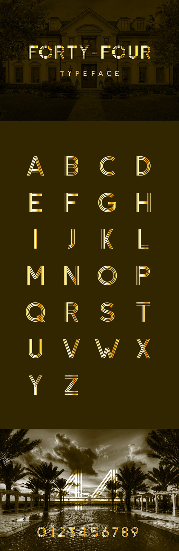 23 Forty-Four Free Typeface