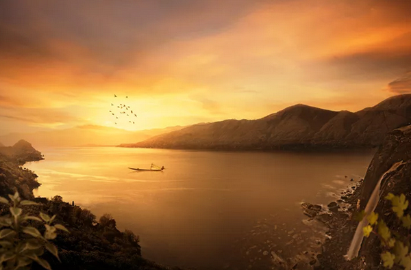 02. How To Manipulate A Beautiful Sunset Matte Painting In Photoshop