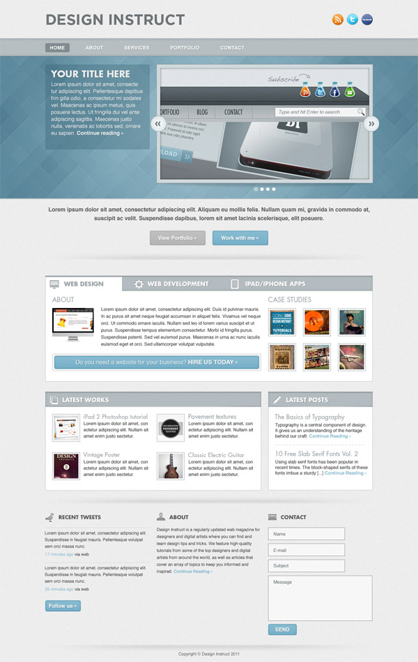 11 Create a Light Textured Web Design in Photoshop