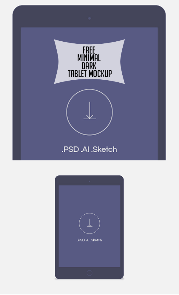 15 Free minimal dark tablet mockup