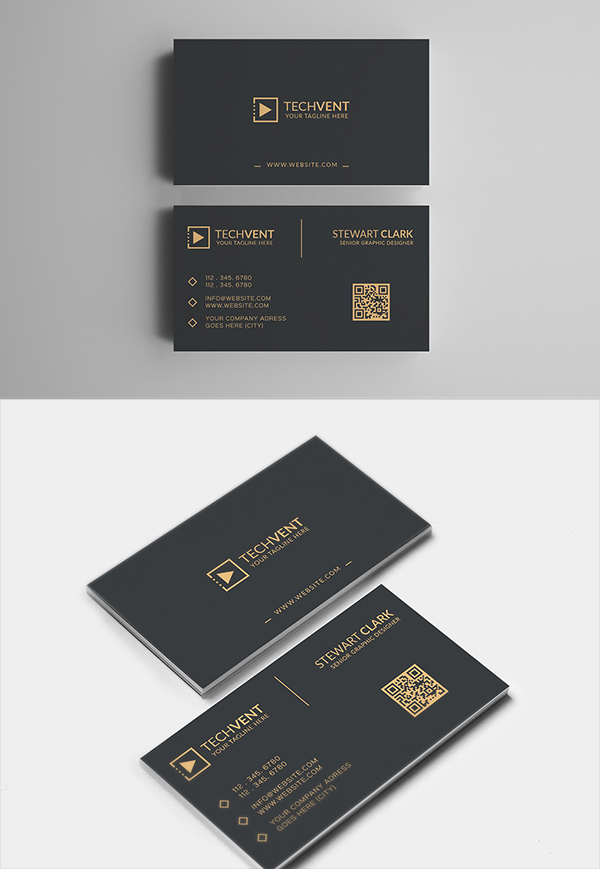 15 Gold Minimal Business Card