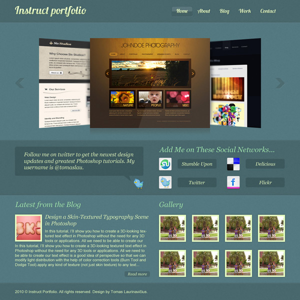16 Create an Elegant Portfolio Web Design in Photoshop