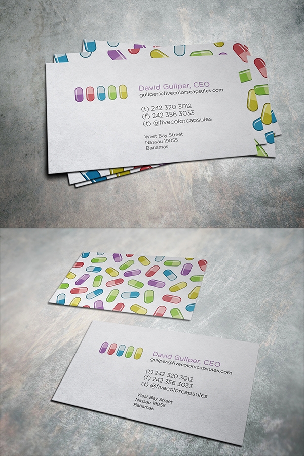 16 Five Capsules Business Card