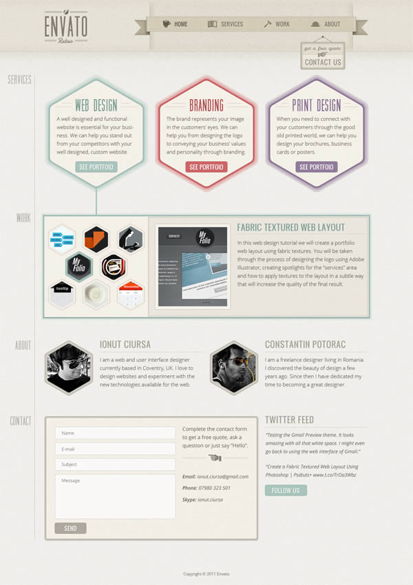 18 Create a One-Page Retro Web Design Layout in Photoshop
