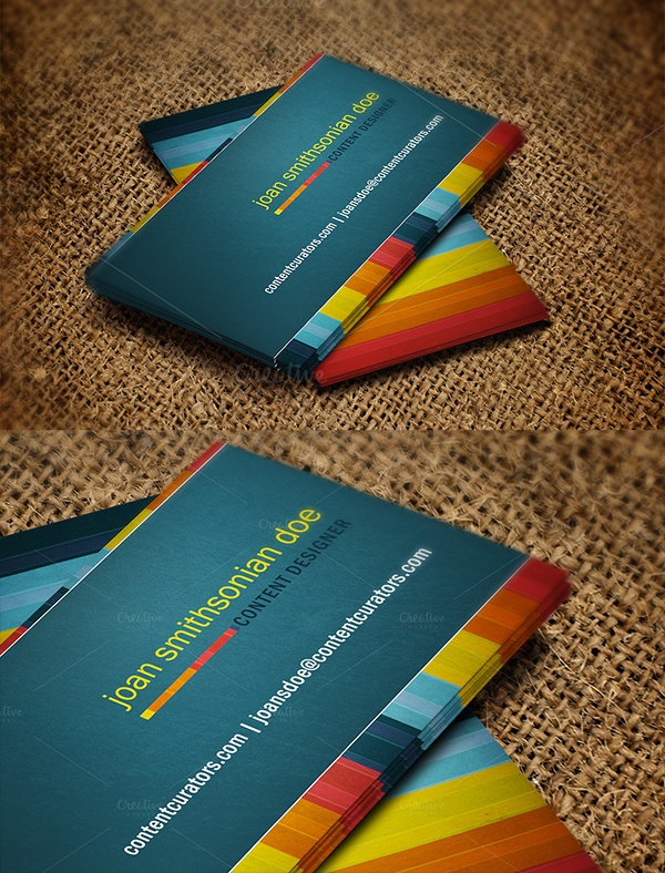 20 Vivid Colors Stripes Business Card