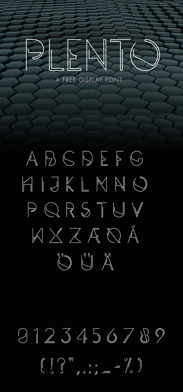 21 PLENTO Free Font
