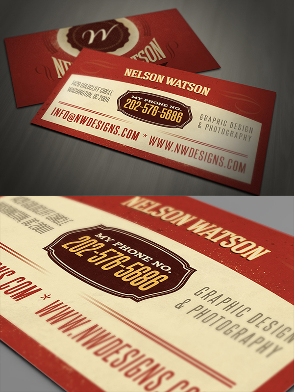 21 Retro Business Card Template
