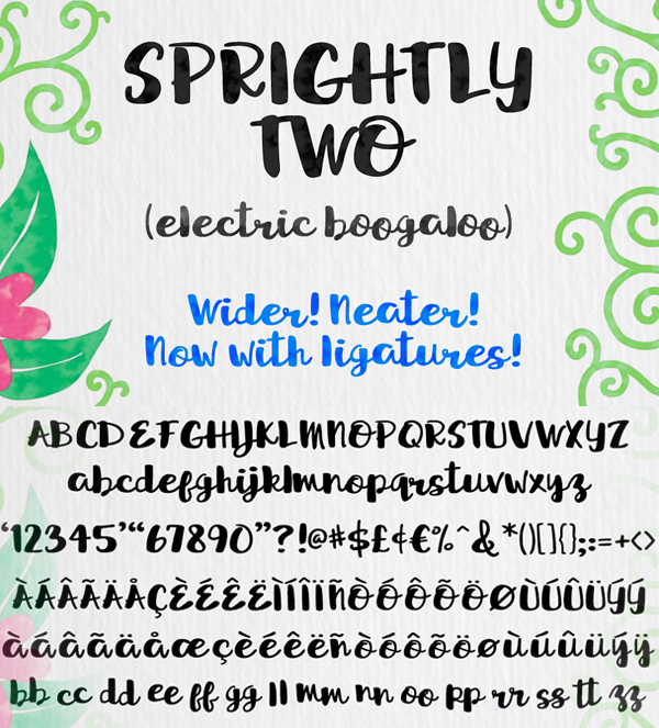 22 Sprightly Two Script Free Font