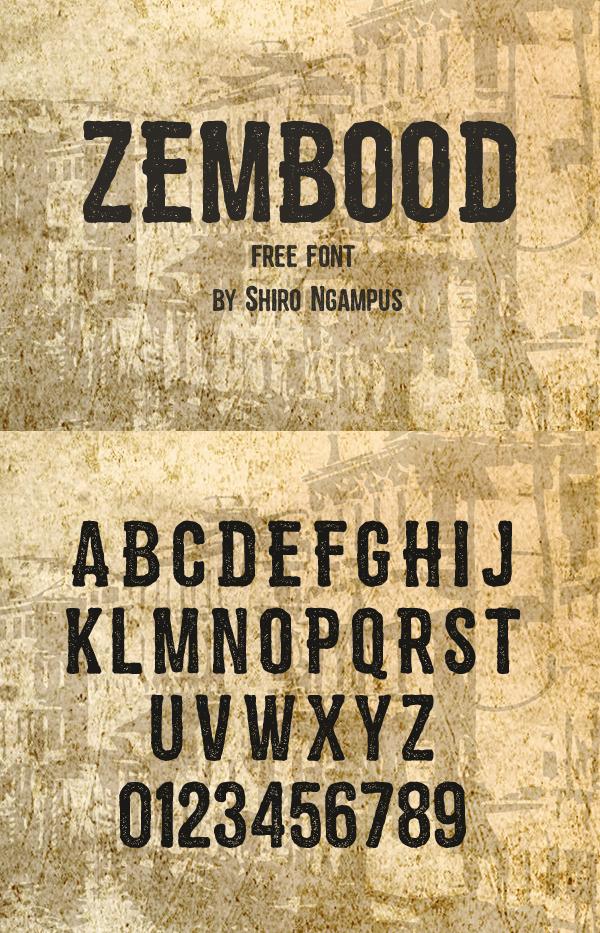 28 Zembood Free Font