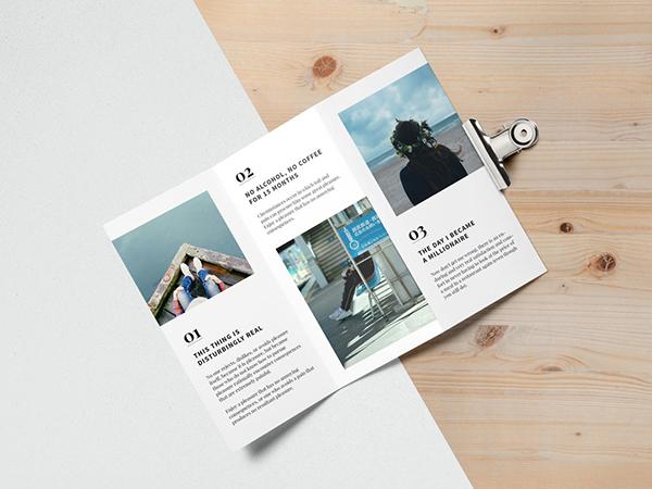 02 Open Tri-fold Brochure Mockup