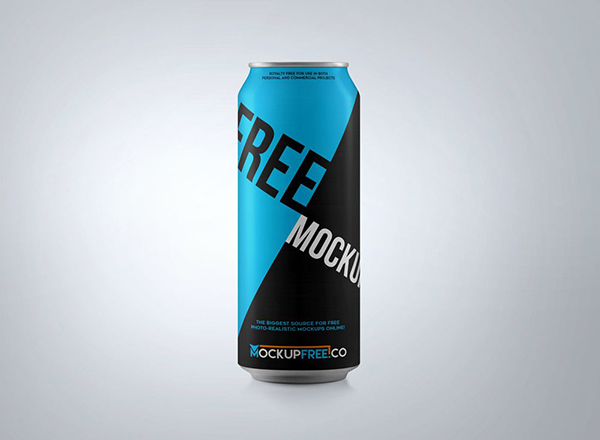 23 Soda Aluminium Can Mockup