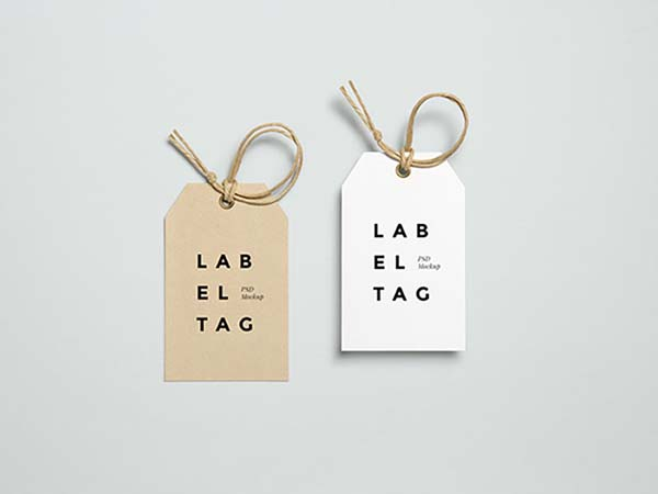 27 Label Tag Mockup