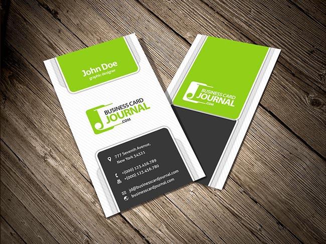 vertical business card design xv-gimnazija