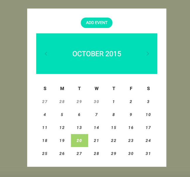 free html calendar widget for website