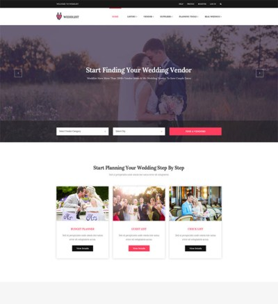 10+ Best Responsive Website Templates for Wedding and ...