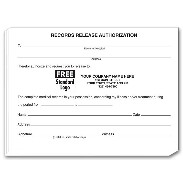 Medical Records Request Forms Medical Records Release Form Free