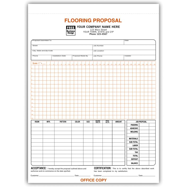 Flooring Contractor Invoice - Work Order DesignsnPrint - contractor invoices