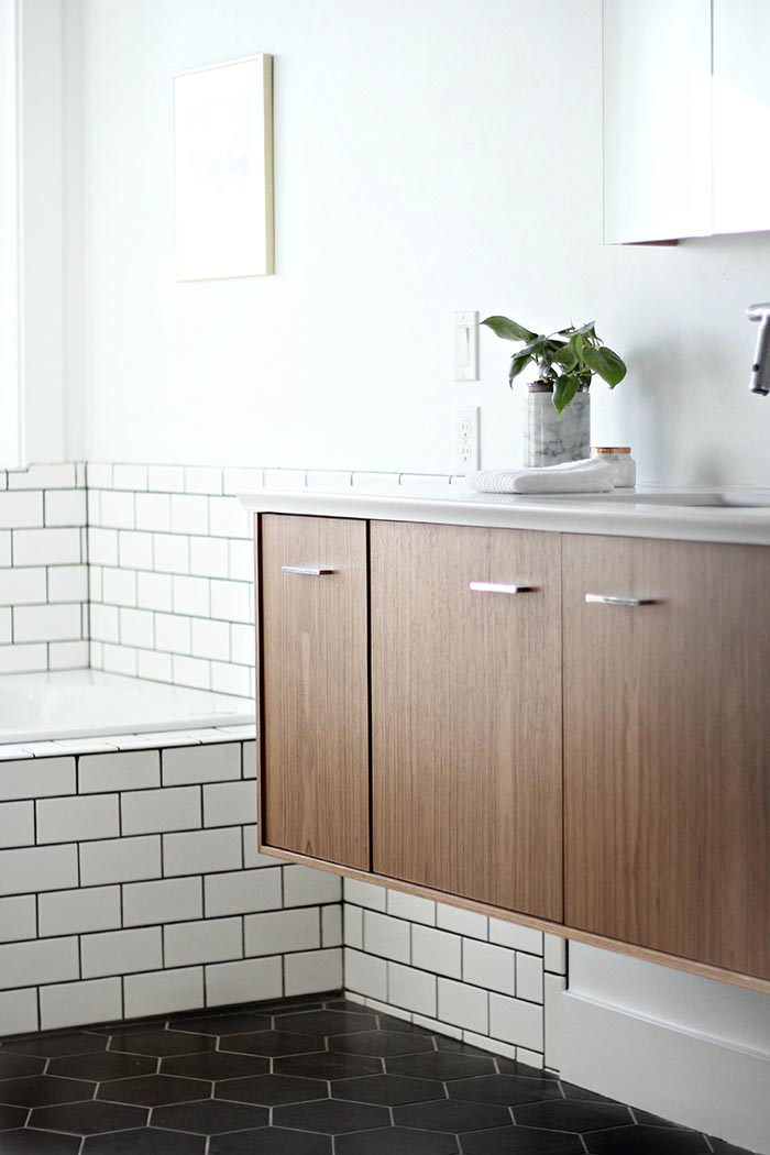 Subway Tile Bathroom Before & After: A Modern Bathroom For A 1905 Farmhouse