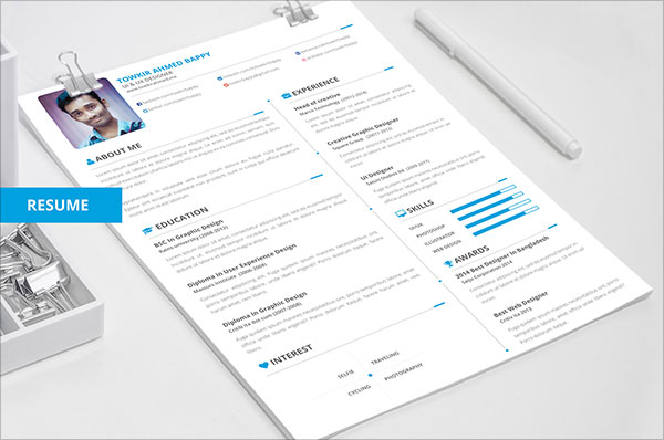 85+ Free (CV) Indesign Resume Templates in Ai, HTML  PSD Formats - free designer resume templates